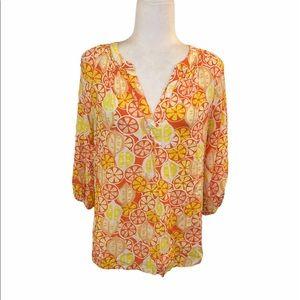 3 for $15 Crown & Ivy orange slice shirt